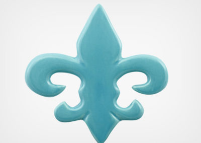 Fleur de Lis – Aqua – 5×5