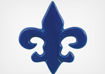 Fleur de Lis – Royal Blue – 5×5