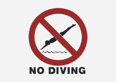No Diving Safety
