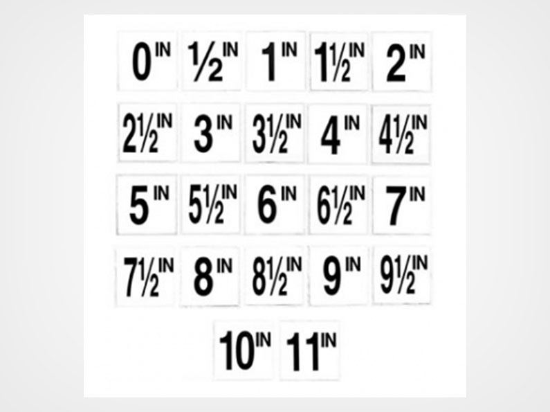 English Numbers Inches