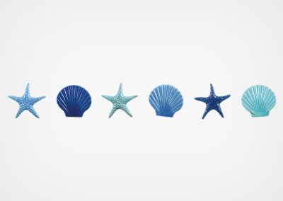 Starfish & Seashells – Step Marker – Blue – 24×3