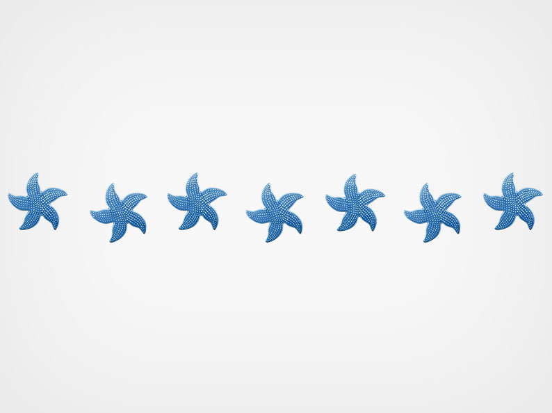 Spotted Starfish – Step Markers – Blue – 24×3