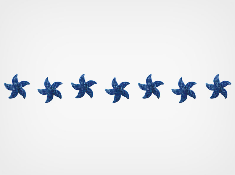 Spotted Starfish – Step Markers – Royal Blue – 24×3