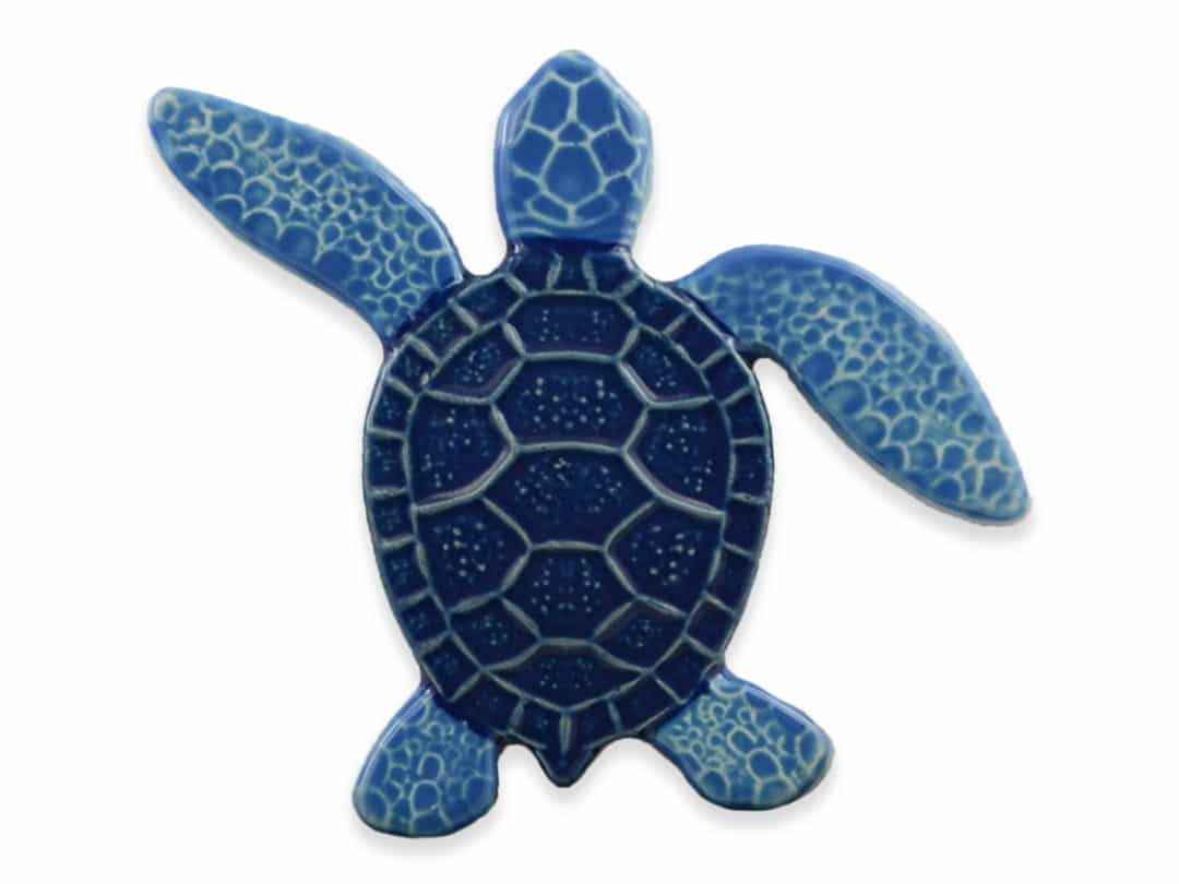 Turtle Left Up- Blue – 5×5