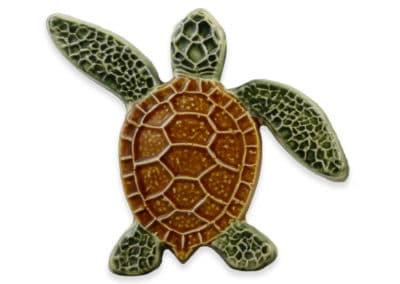 Turtle Left Up – Natural – 5×5