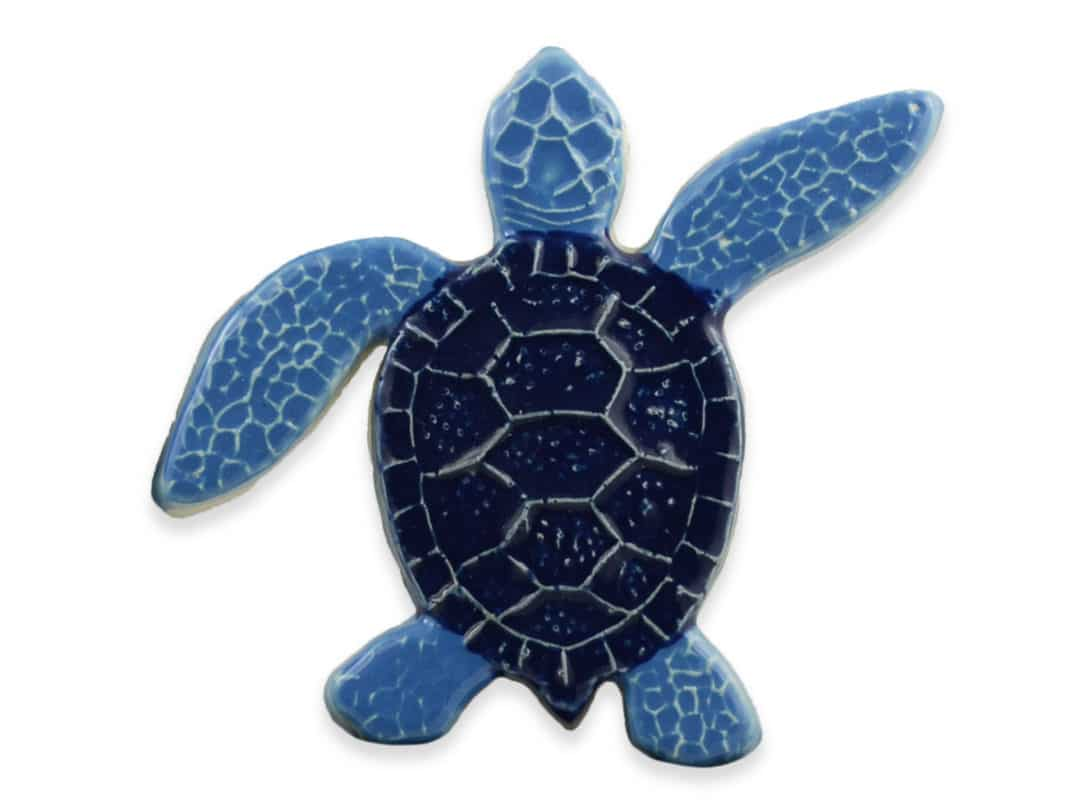 Turtle Right Up- Blue – 5×5