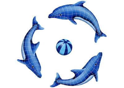 Dolphin Group Blue Beach Ball – 42″ x 42″ / 62″ x 62″