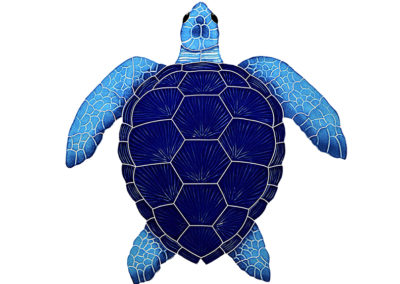 "Loggerhead Turtle Blue – 20"" x 20"" / 15"" x 15"" / 8"" x 8"""