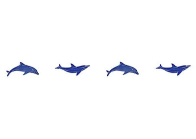 """Dolphins Step Markers Blue – 3"""" x 24"""""""
