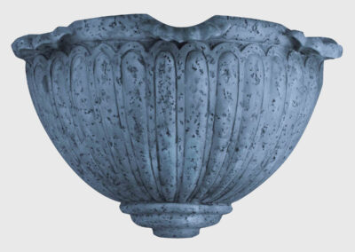 Scalloped Sconce-Blue